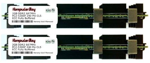 KOMPUTERBAY 4GB FULLY BUFFERED PC2-5300 DDR2 ECC (FB-DIMM) (2 X 2GB) FOR APPLE KIT Memory