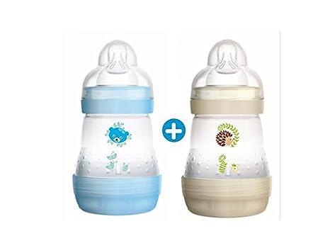 MAM 5123339- Biberón anti-cólico, 2 x 160 ml, surtido: varios modelos: Amazon.es: Bebé