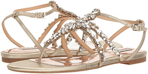 9826ff9a0eb236 Amazon.com  Badgley Mischka Women s Hampden Flat Sandal  Shoes