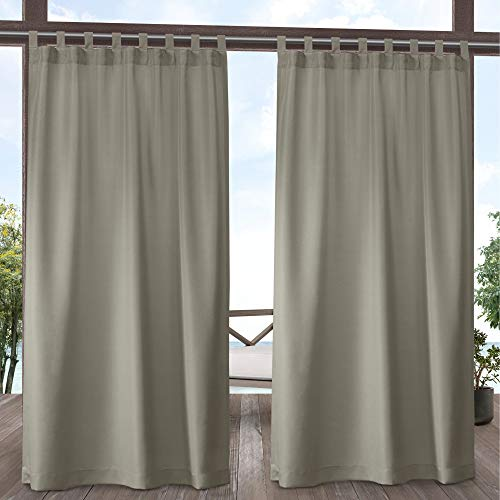 Exclusive Home Curtains Indoor/Outdoor Solid Panel Pair, 54x96, Taupe