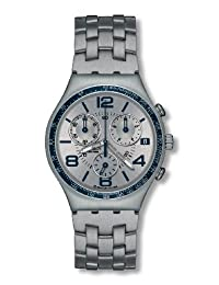 Swatch Men's LIFESTYLE FOR HIM YCS532G Silver Stainless-Steel Quartz Watch with Silver Dial