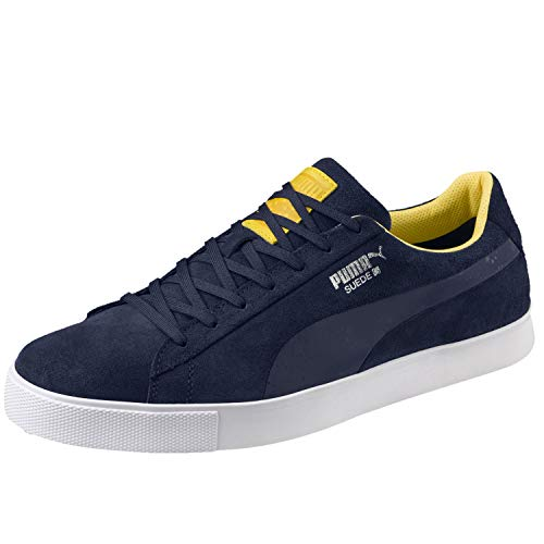 PUMA Golf Mens Suede G Ryder Cup Edition Team Europe Spikeless Golf Shoe 7.5 M (Limited Edition Golf Shoe)