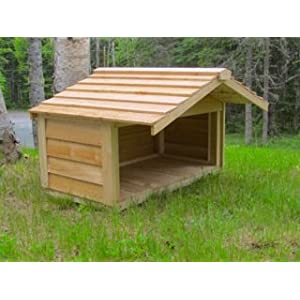 CozyCatFurniture Large Outdoor Pet Feeding Station with Extended Roof, Cedar Construction, Protection for 3-4 Food Dishes, Good for Birds, Rabbits, Cats and Dogs 10