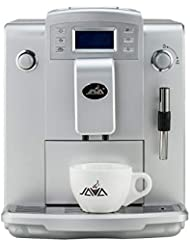 Java WSD18-010B Fully Automatic Espresso Latte Machine with Cappuccino Milk Frother Single/Double Cup Drip Coffee Maker Silver
