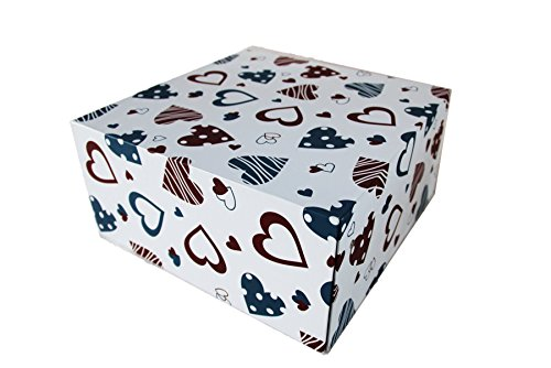 (Kids Art Crafts Organizer - Storage Box for Painting, Crafts and Keepsakes (heart) 13'x13'x6' by Sweet Memory)