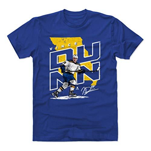 500 LEVEL Vince Dunn Cotton Shirt (X-Large, Royal Blue) - St. Louis Blues Men's Apparel - Vince Dunn Player Map Y ()