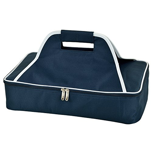 Picnic at Ascot Insulated Casserole Carrier to keep Food Hot or Cold- Navy