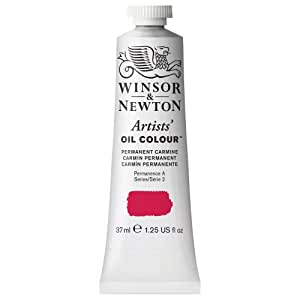 Winsor & Newton Artists Oil Color Paint, 37ml Tube, Permanent Carmine