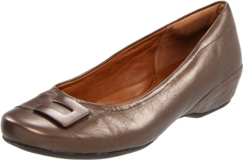 Clarks Coro de Concierto plana Brown Metallic Leather