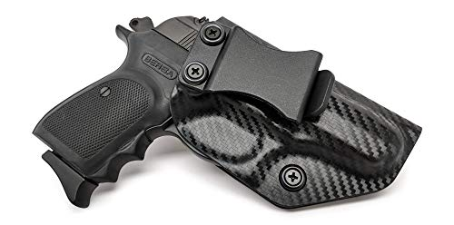IWB KYDEX Holster: fits Bersa Thunder 380/22 LR (CF BLK, RH) - Inside Waistband Concealed Carry - Adj. Cant/Retention - US Made ()