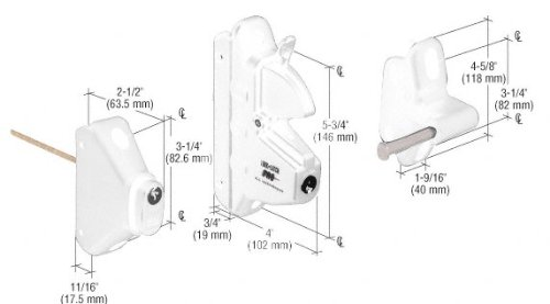 White Privacy Latch with Keyed Lock