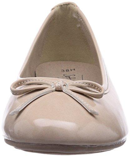 Softline 22163 Damen Geschlossene Ballerinas Elfenbein (Dune / Patent 406)