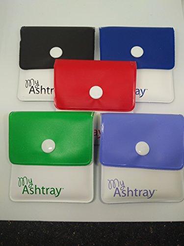 My Ashtray Five Assorted Colours Pocket Ashtrays