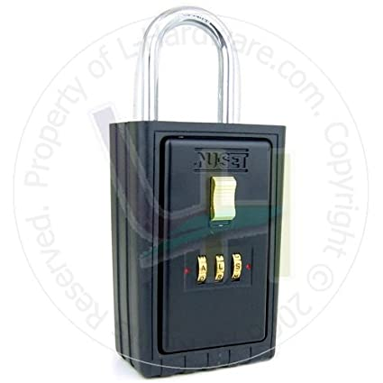 nu set 2021 3 3 letter combination lock box with keyed shackle