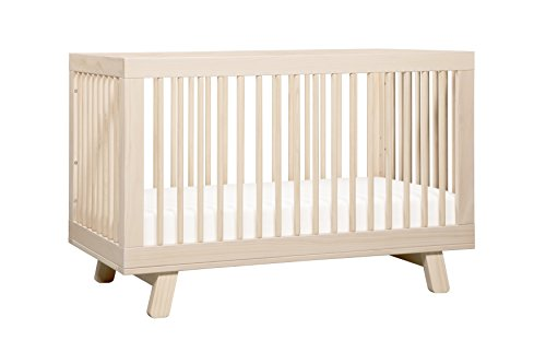 Crib Wood Convertible (Babyletto Hudson 3-in-1 Convertible Crib with Toddler Bed Conversion Kit, Washed Natural)