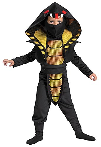 [UHC Boy's Ninja Warrior Cobra Toddler Snake Fancy Dress Child Halloween Costume, 3T-4T] (Cobra Snake Halloween Costumes)