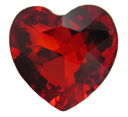 Red Lucite Heart Gem Stretch Cocktail (Lucite Rings Band)