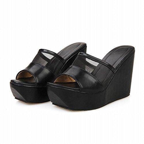 Pictures of Latasa Women's Platform Wedges Slide Sandals 8 M US 4