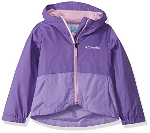 Columbia Girls' Toddler Rain-Zilla Jacket, Grape Gum/Paisley Purple, 4T (Columbia Big Girls)