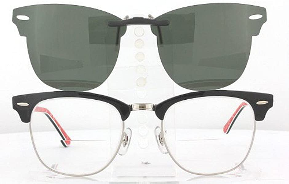 c9b20a3fd4 RAY-BAN CLUBMASTER 3016-51X21 POLARIZED CLIP-ON SUNGLASSES (Frame NOT  Included)  Amazon.ca  Shoes   Handbags