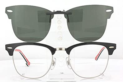 ray ban youngster clubmaster sunglasses  ray ban clubmaster 3016 51x21 polarized clip on sunglasses (frame not included