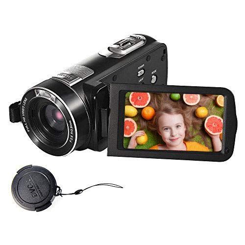 SEREE Video Camera Full HD 1080p 24.0MP Video Camcorder 3.0″ LCD 270° Rotation Screen Digital Vlogging Camera with Remote Control