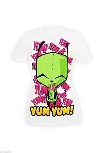 Invader Zim Gir Yum Yum! T-shirt (Junior's) Girls (Invader Zim And Gir Costumes)