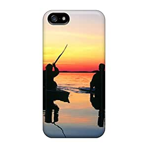 New Hard Cases Premium Iphone 5/5s Skin Cases Covers(two Kayaks)