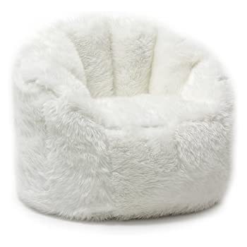 Amazon Com Comfy Sacks Memory Foam Bean Bag Chair White