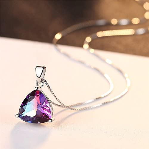 Mother\u2019s Day Gift * Purple Goldstone Pendant Gift for Her Necklace Unique