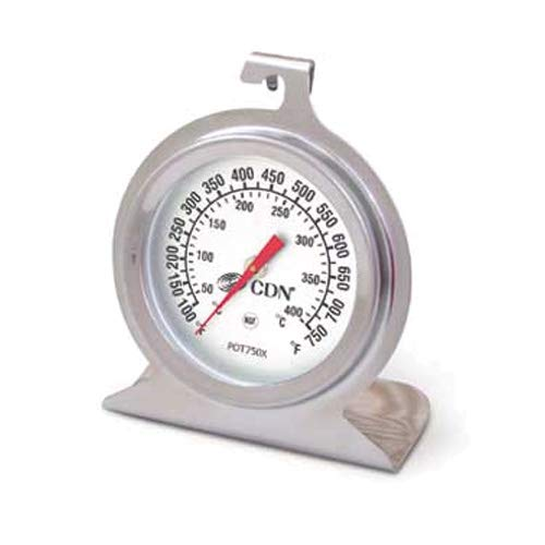 CDN POT750X ProAccurate High Heat Oven Thermometer, 100 to 750 Degrees F (50 to 400 Degrees C), 2