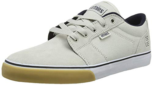 New Etnies Skateboarding Shoes - Etnies Men's Barge LS Skate Shoe White/Navy/Gum 10.5 Medium US