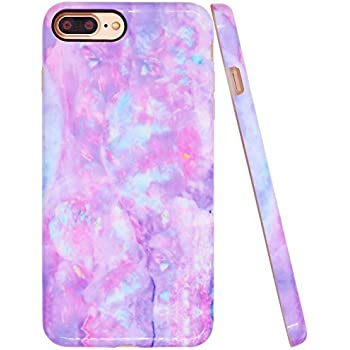 Amazon Com Pink Marble Iphone 6 Plus Case Cotton Candy