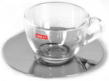 Bodum Mezzo Passione Coffee Cup With Metal Saucer 6 Pieces