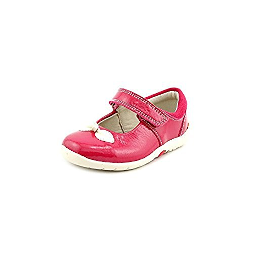 Clarks Kids Baby Girl's Softly Bow (Toddler) Berry Patent Flat 5.5 Toddler W