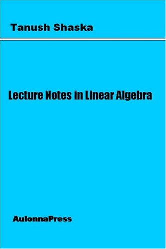 Download Lecture Notes in Linear Algebra pdf