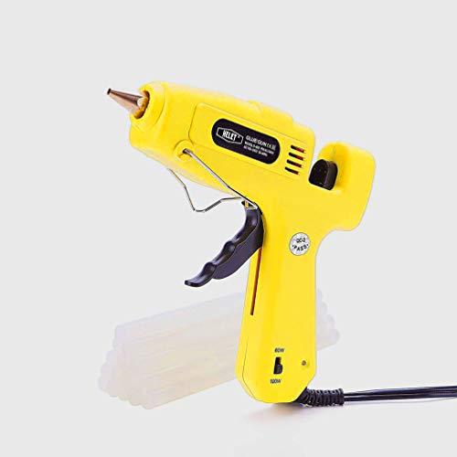 (Hot Glue Gun ,Helet Full Size Melt Hot Glue Guns ,60/100W Dual Power High Temp Quick Heat  Glue Gun Kit with 15 pcs  Glue Sticks for DIY Small Craft Projects)