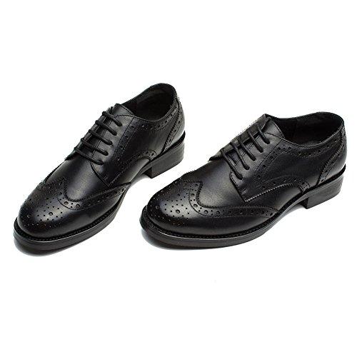 Brogues Femme YORWOR Cuir Derbies Plat Oxford Femme Classic Noir Chaussures 0wTx8qrg0