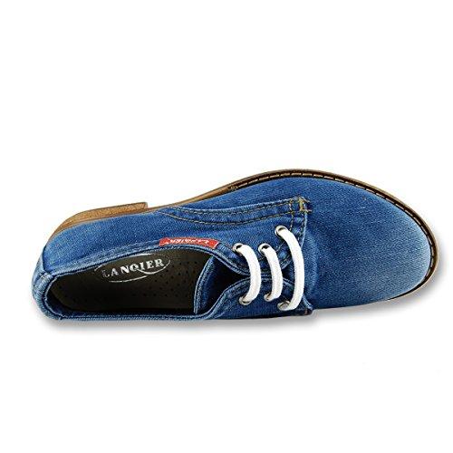 Lanqier Damesschoenen Kant Jeans 38 Eu