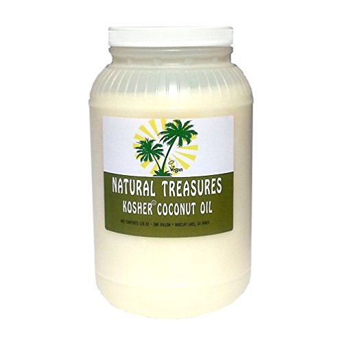 Natural Treasures  Natural Kosher Certified Coconut Oil - One Gallon, 128oz - RBD
