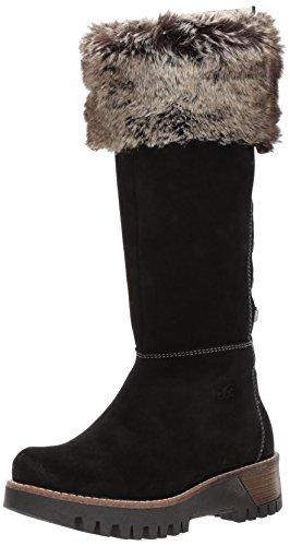 Co Waterproof Suede Boot - Bos. & Co. Women's Graham Snow Boot, Black/Grey Black Suede/Faux Fur, 39 M EU (8-8.5 US)