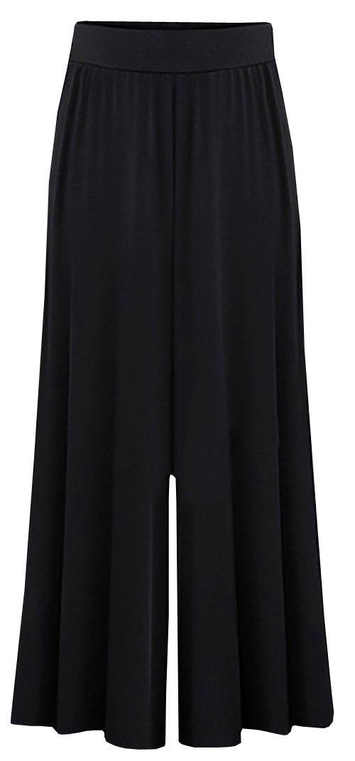 Dellytop Women's Loose Palazzo Trousers Wide Leg Pants Plus Size