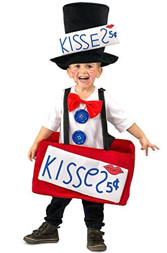 Princess Paradise Boys' Kissing Booth, Red/White/Black, (Kiss Toddler Costume)