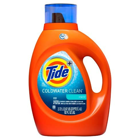 - Tide Coldwater Clean Fresh Scent Liquid Laundry Detergent, 92 oz, 48 loads