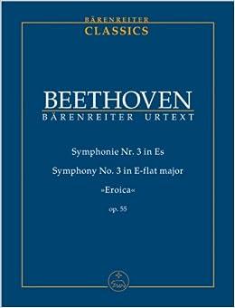 ベートーヴェン: 交響曲 第3番 変ホ長調 Op.55 「英雄」/ベーレンライター社/デル・マール編/中型スコア