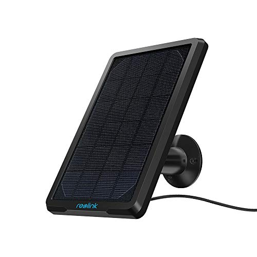 Reolink Solar Panel Power Supply for Wireless Outdoor Rechargeable Battery Powered IP Security Camera Reolink Go/Argus Eco/Argus 2/Argus Pro/Argus PT