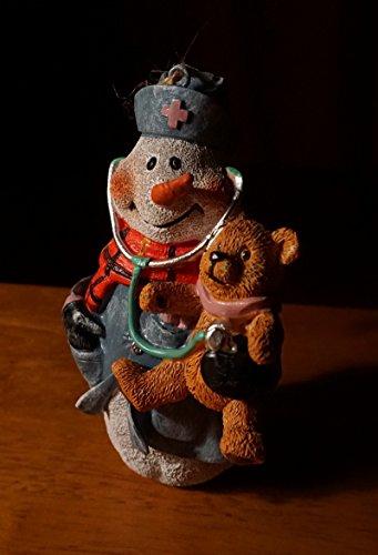 Large Nurse Snowman & Teddy Bear Boxed Christmas Ornament Nursing Home Decor (Teddy Switchplate)