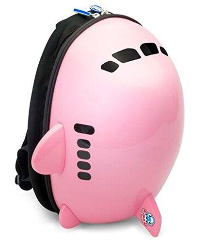 RIDAZ (라이더) 에어 플레인 키즈 백팩 비행기 모양 어린 이용 가방 캐리어 트렁크 여행가방 핑크/블루/화이트
