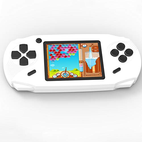 Beijue 16 Bit Handheld Games for Kids Adults 3.0'' Large Screen Preloaded 100 HD Modern Video Games Seniors Electronic Game Player for Boys Girls Birthday Xmas Present (White)