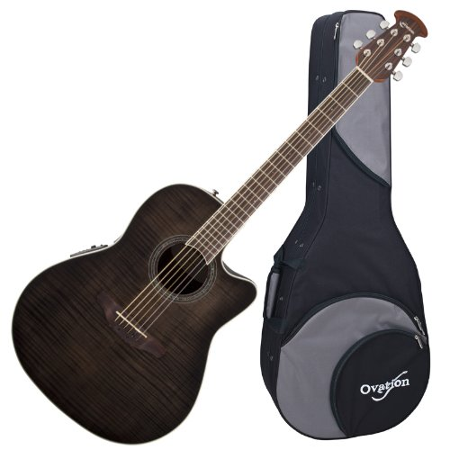 OVATION CS24P-TBBY Celebrity Standard Acoustic-Electric Guitar TRANSPARENT BLACK with Ovation Zero-Gravity Case